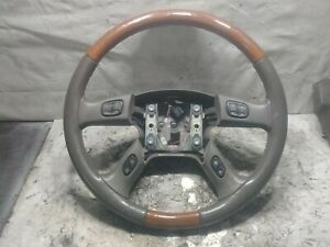 2003 2006 Cadillac Escalade Steering Wheel Pewter Used Oem 15185750