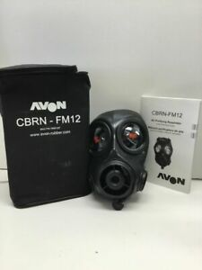 Avon Cbrn fm12 Respirator R h Gas Mask Size 1 New Old Stock From Police