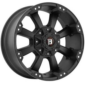 4 New 17x9 Ballistic Morax Black Wheel 5x127 Et 12 5 127 17 9