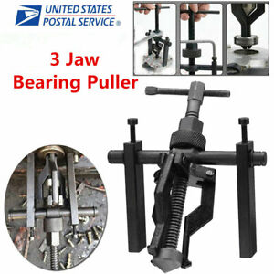 3 Jaw Inner Bearing Puller Gear Extractor Heavy Duty Automotive Machine Us Stock