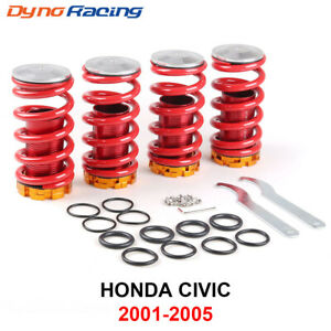 Front Rear Suspension Coilover Lowering Spring Sleeve Kit For 01 05 Honda Civic