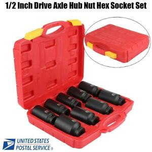 9pcs 1 2 Inch Drive Axle Hub Nut Hex Socket Set 29 30 31 32 33 34 35 36 38mm Us