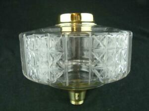 Large Antique Clear Glass Oil Lamp Font Screw Fit Collar 23mm Undermount