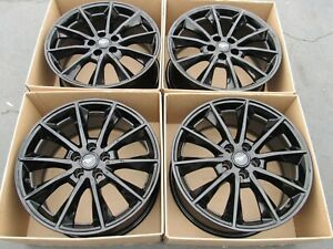 19 Ford Mustang Gt Black Gloss Wheels Rims Factory Oem Set 4 Caps