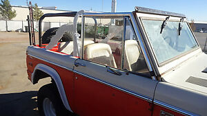 1966 77 Ford Early Bronco Rear Roll Cage Kit Incorporates Factory Bar