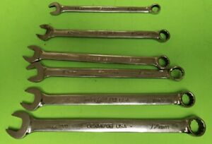 Snap On Tools Metric Combination Wrench Set Lot Oexm 10 12 13 14 15 17mm