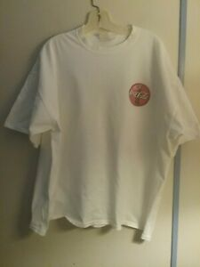 Vintage Coca Cola T-Shirt XL White Red
