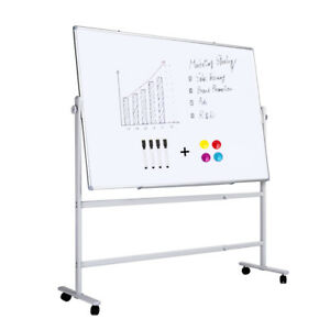 Double sided Magnetic Whiteboard With Stand come With Magnets And Markers 36x24