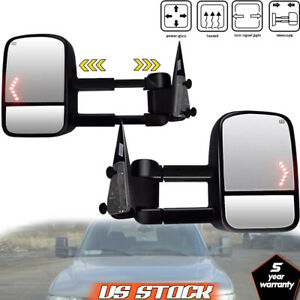 Left Right For 2003 2006 Chevy Silverado Power Heated Arrow Signals Tow Mirrors