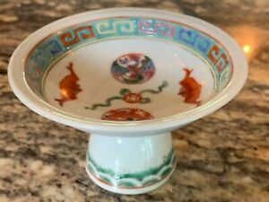 Fine Chinese Famille Rose Antique Porcelain Stem Cup With Phoenix