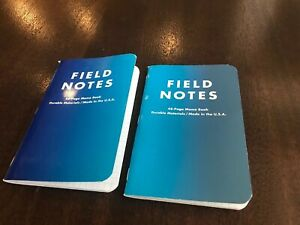 Field Notes cold Horizon Limited Edition winter 2013 2 Books Of The Set