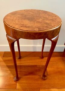 Vintage Baker Furniture Co Burl Wood Side Table Perfect Drinks Table