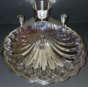Fb Rogers Silver Plated Scallop Shell Shrimp Serving Dish Bowl Tray Platter 1728