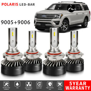 9005 9006 Led Headlight Bulbs Fit Ford Expedition 2003 2006 Explorer 2002 2005