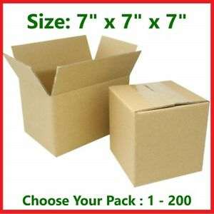 7x7x7 Cardboard Packing Mailing Gift Moving Shipping Boxes Corrugated Box Carton