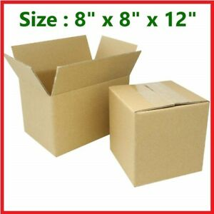 8x8x12 Cardboard Packing Mailing Gift Moving Shipping Tall Corrugated Box Carton
