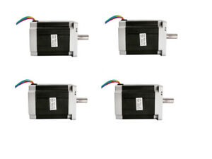 Usa Free Ship 4pcs 34hs1456 Nema34 Stepper Motor 1232oz 5 6a 4wires For Cnc Kit