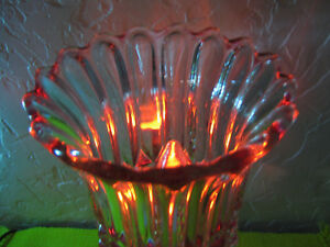 Exquisite 13 1 2 Antique Vintage Crystal Cranberry Glass Electric Lamp