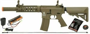 Lancer Tactical AEG LT 15TL G2 Gen 2 M4 SD Carbine Airsoft Rifle Package $164.95