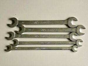 Mac Tools 5 piece Metric Thin Open end Wrench Set sdtm5pt Made In Usa