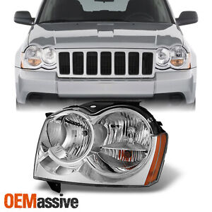Fit 2005 2006 2007 Jeep Grand Cherokee Driver Left Side Clear Headlight Headlamp