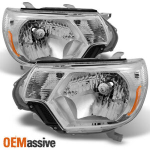 Fits 2012 2015 Toyota Tacoma Headlights Replacement Headlamps Pair 12 15 Lh Rh