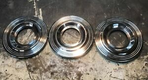 1953 1954 Pontiac cello 15 Wire Wheel Center Hubcaps A oem Used 3 Total