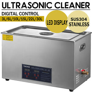 New Stainless Steel 3 2 30l Industry Heated Ultrasonic Cleaner Heater W timer