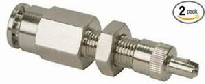 Inflation Valve For 1 4 Air Line Dot Approved Ptc Style Nickel Plated 2 Pack