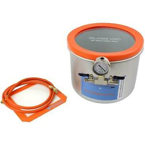 Glass Vac 3 Gallon Wide Stainless Steel Vacuum Chamber