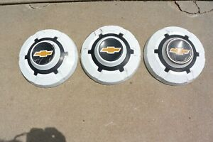 69 77 Chevy 3 4 Ton Truck Painted 12 Hubcaps Hub Caps Set Of 3