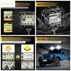 Ambother Led Pods Light Bar 4 Inch 120w 12800lm Driving Fog Off Road Lights Trip
