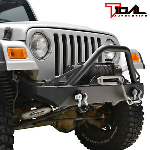 Tidal Front Bumper With Winch Plate D Ring Fit 87 06 Jeep Wrangler Tj Yj
