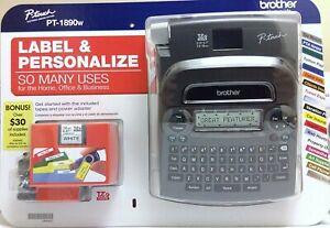 Brother P touch Tz Pt 1890w Labeler 2tapes Thermal Machine Label Printer Maker