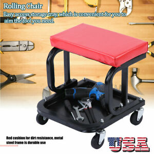 Rolling Crawling Seat Mechanic Stool Repair Tools Tray For Shop Auto Car Garage