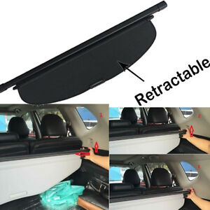 For 2014 2019 Nissan Rogue Luggage Cargo Cover Security Rear Trunk Black Shade