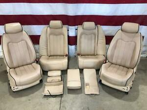 2009 Maserati Quattroporte Beige Leather Seat Set Front Rear Oem Heated Cooled
