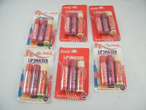 6  NIP COCA COLA LIP SMACKER 3 PACKS ~ COCA COLA / CHERRY COLA / VANILLA COLA