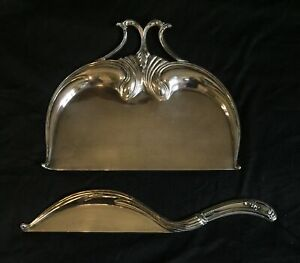 Rare Antique Vintage Pairpoint Quadruple Silver Plate Crumber Usa Made Dust Pan