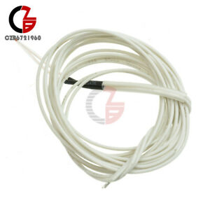 10pcs 3950 1 Ntc Thermistor 100k Ohm With Cable Finished For 3d Printer Reprap