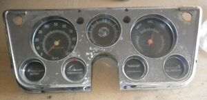 Oem 1967 1972 Chevrolet Pick Up Truck Instrument Gauge Cluster Assembly Chevy