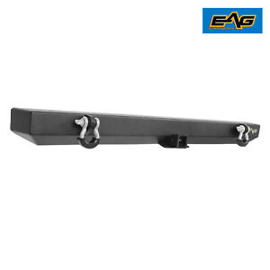 Eag Rear Bumper W hitch Receiver Rock Crawler Fit For 87 06 Jeep Wrangler Yj tj