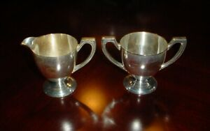 Benedict Silver Plated Sugar Bowl And Cream Jug Epnsbmm U S A