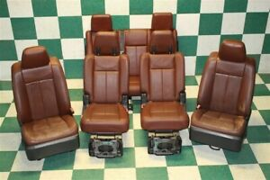 07 14 Expedition King Ranch Leather Heated Cooled Front Captain 2nd 3rd Row Seat