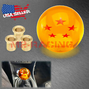 Universal Dragon Ball Z 5 Star 54mm Shift Knob With Adapters Will Fit Most Cars