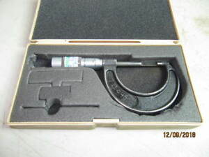 Brown Shape Blade Out Side Micrometer 0 1 Accuracy 0 001 No 436 4