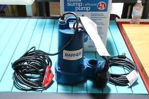 Barnes Crane 3 4 Hp Heavy Duty Cast Iron Submersible Sump Pump Float Switch