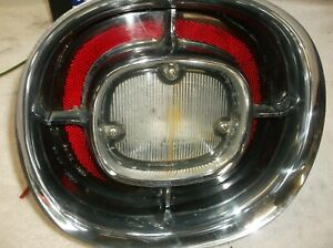 1959 Cadillac Back up Light Housing With Reflector Lens Works