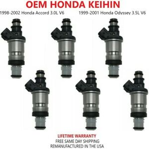 Oem Honda 6pcs Fuel Injectors For 1998 1999 2000 2001 2002 Honda Accord 3 0l V6
