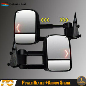 For 2003 2006 Chevy Silverado Power Heated Led Signals Towing Side Mirrors New